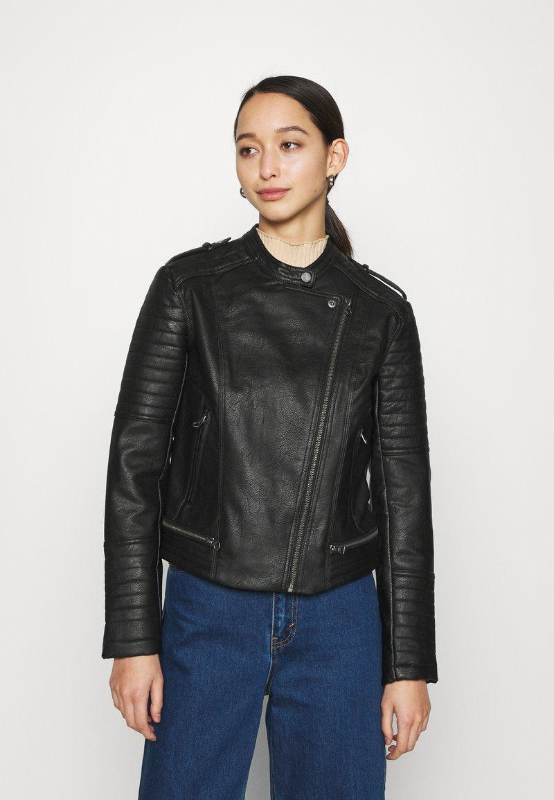 Pepe Jeans - LENNA - Chaqueta de cuero sintético - black
