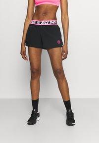 BIDI BADU - TIIDA TECH SHORTS - Sportovní kraťasy - black/pink - 0