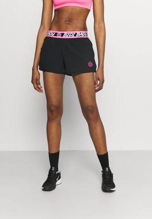 TIIDA TECH SHORTS - Sportovní kraťasy - black/pink