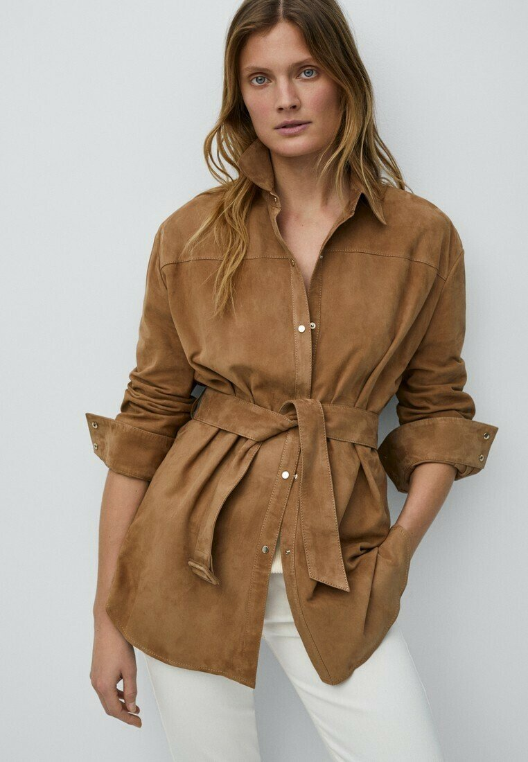 Massimo Dutti - Short coat - beige