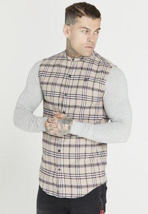 SIKSILK GRANDAD - Skjorta - grey marl/beige/navy/red/white