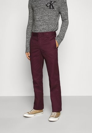 873 SLIM STRAIGHT WORK PANT - Trousers - maroon