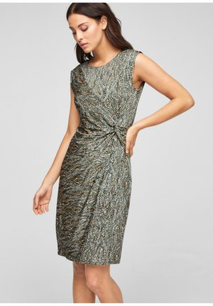 Jersey dress - brown aop