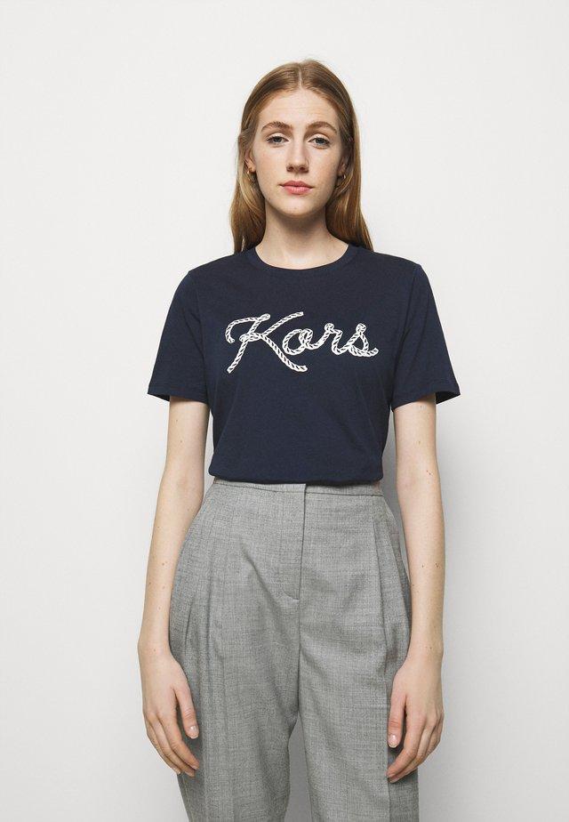 ROPE GRAPHIC - Camiseta estampada - midnight blue