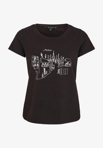 Print T-shirt - black milan print