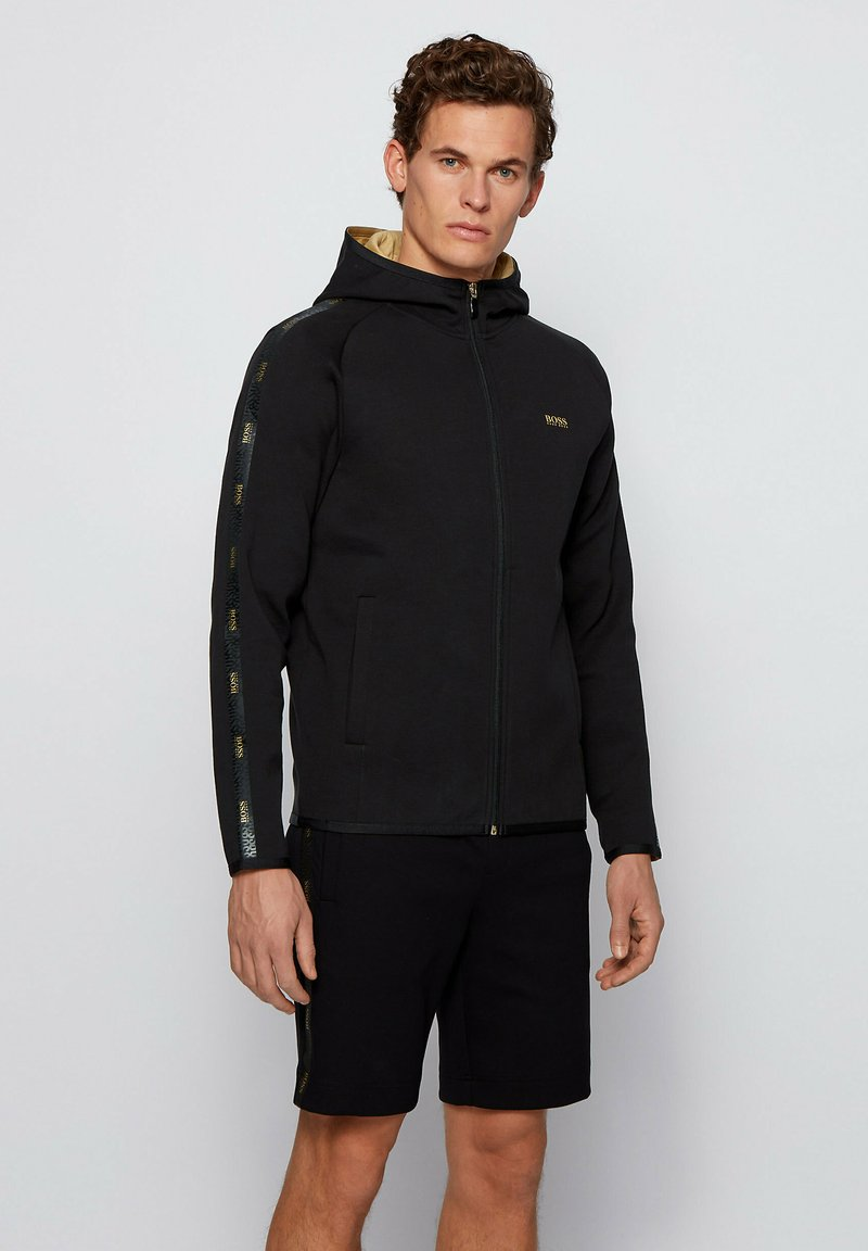 BOSS - Zip-up hoodie - black