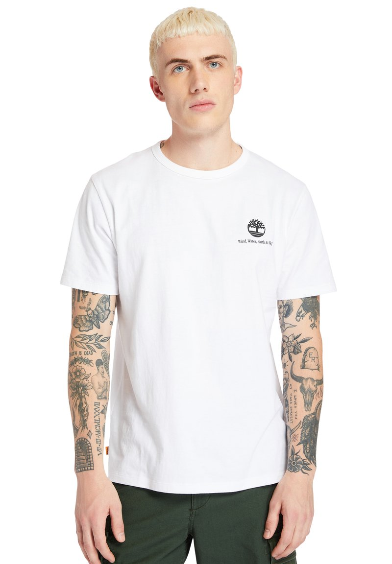 Timberland - ARCHIVE BACK WWES - Basic T-shirt - white