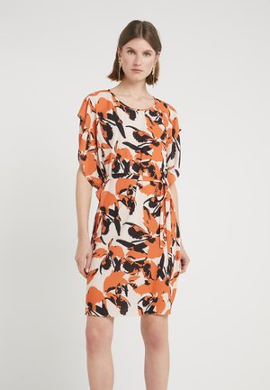 LEAVES FREA DRESS - Day dress - burnt copper