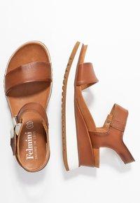 Felmini - KAREN - Platform sandals - cognac - 3
