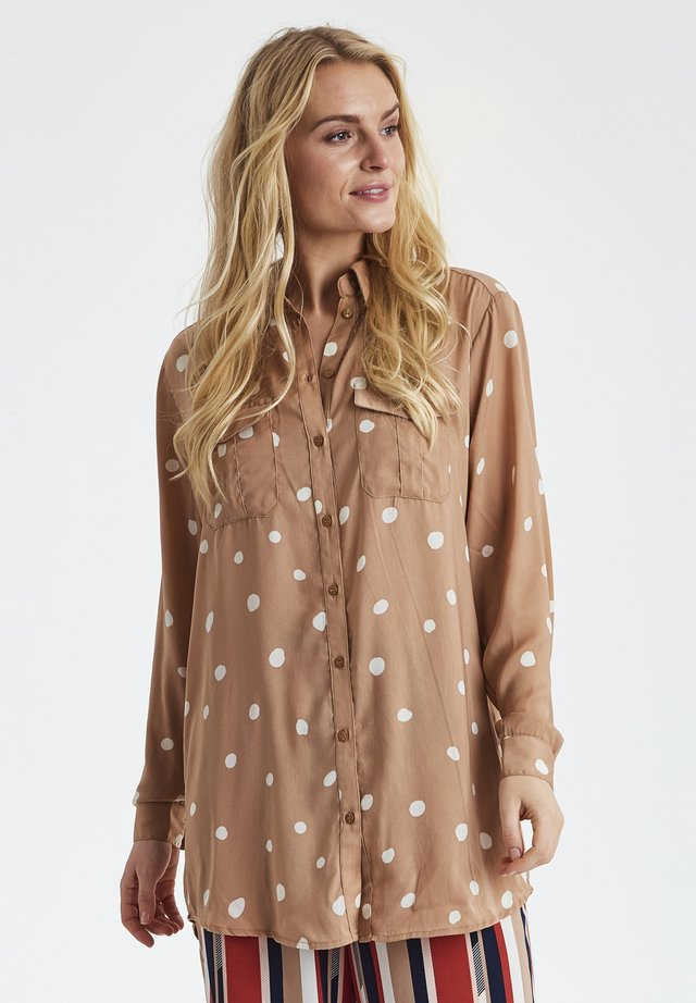 FRHADOT - Button-down blouse - warm taupe mix