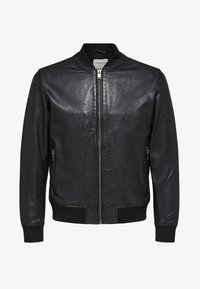 Selected Homme - SELECTED HOMME - Leather jacket - black - 4