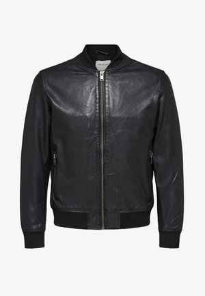 SELECTED HOMME - Læderjakker - black