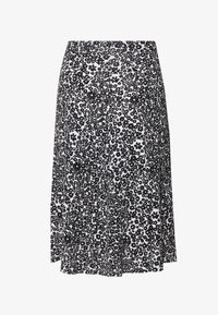BASIC - Midi skirt - Gonna a campana - white/black