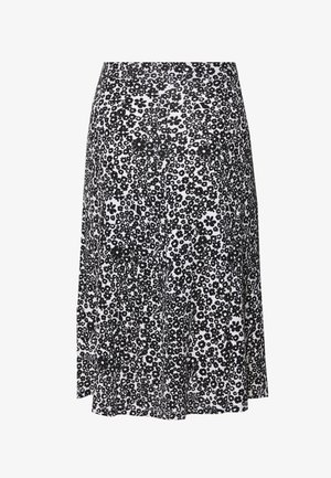 BASIC - Midi skirt - Falda acampanada - white/black