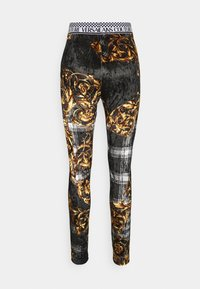 Versace Jeans Couture - PANTS - Legginsy - black/gold - 8