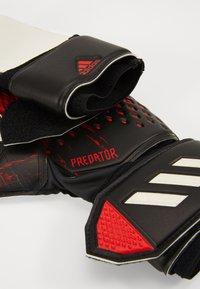 adidas Performance - PREDATOR - Goalkeeping gloves - black/actred - 2