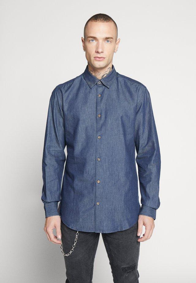 ONSASK CHAMBRAY - Shirt - dark blue denim
