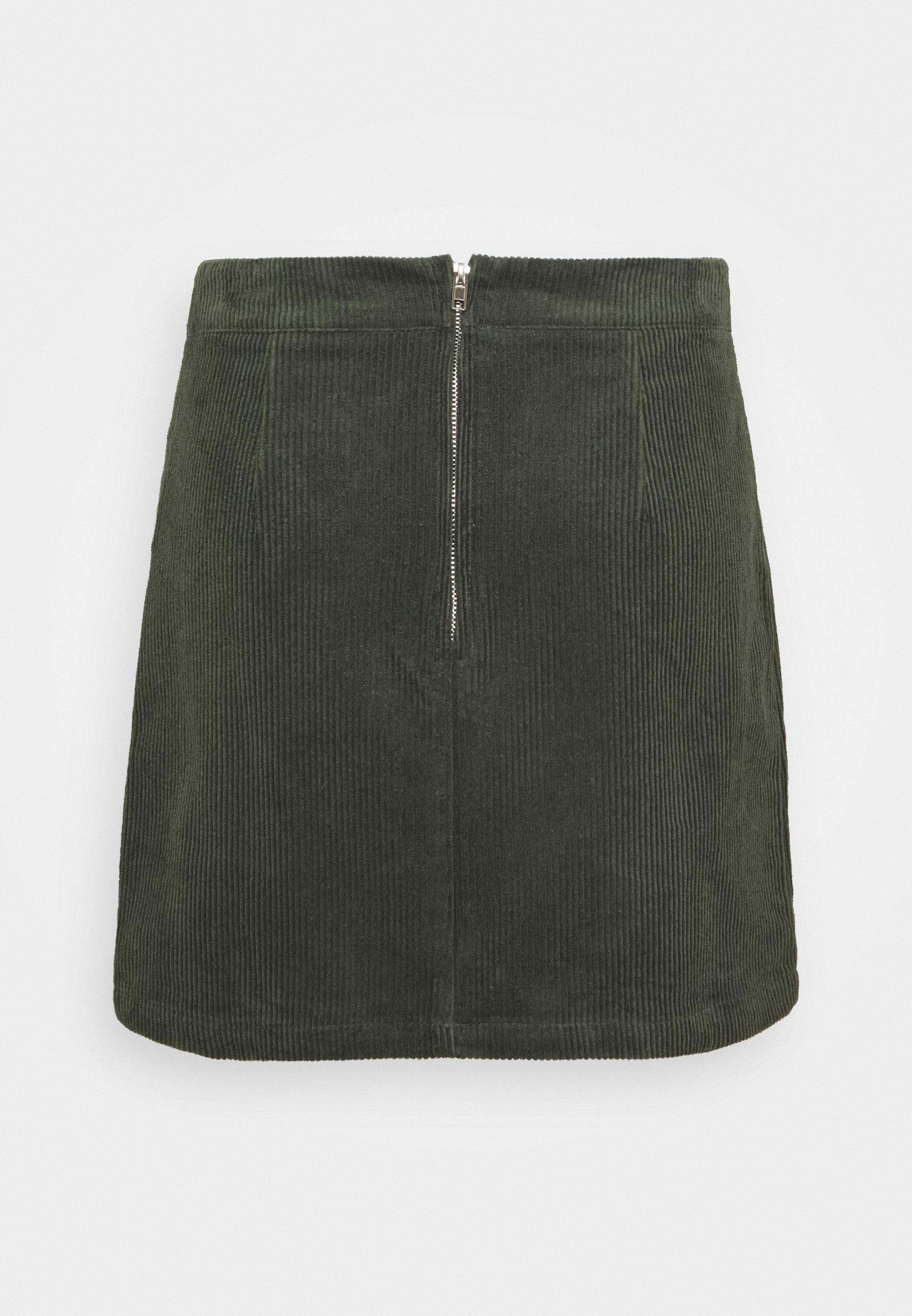 Femme MINI SKIRT - Minijupe - dark green
