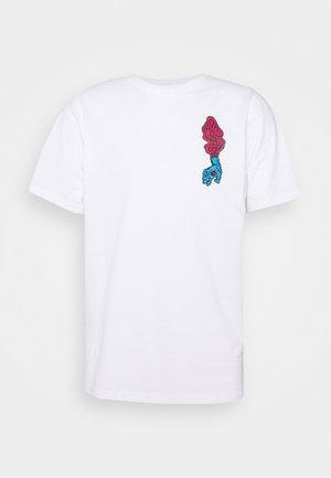 UNISEX SCREAMING HAND SCREAM - T-shirt imprimé - white