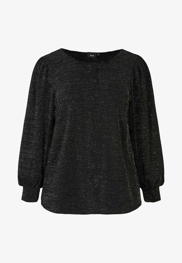 MIT SCHIMMER - Bluse - black
