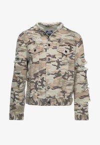 SIKSILK - COLLARLESS JACKET - Denim jacket - desert - 3