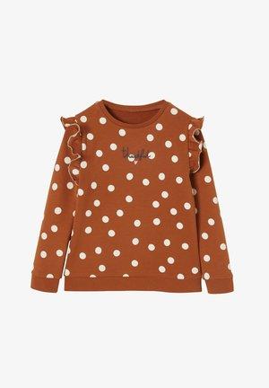 Sweatshirt - karamell bedruckt