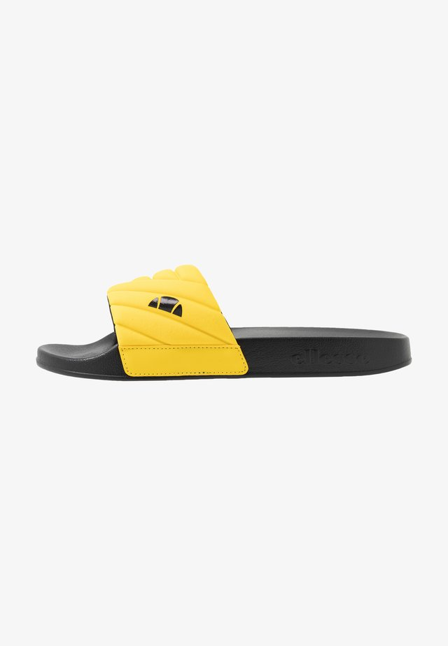 FILIPPO QUILTED - Mules - yellow/black