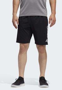 adidas Performance - 4KRFT 3-STRIPES 9-INCH SHORTS - Sports shorts - black - 0