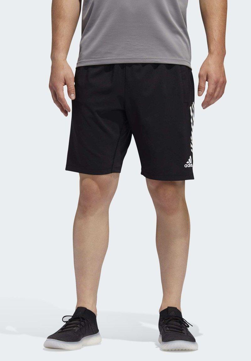 adidas Performance - 4KRFT 3-STRIPES 9-INCH SHORTS - Sports shorts - black