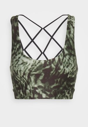 PRINT GEO STRAPS BRA - Sports bra - jungle