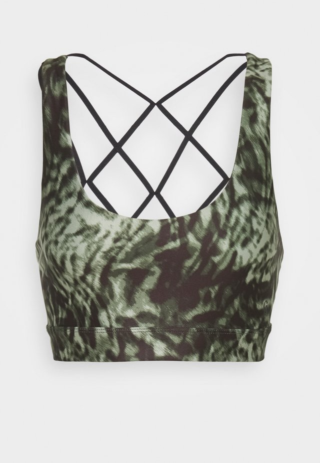 PRINT GEO STRAPS BRA - Sports-bh'er - jungle