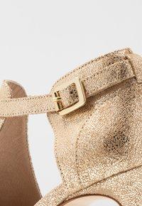 San Marina - AVISINO - High heeled ankle boots - gold - 2
