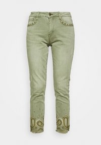 Desigual - PANT ANKLE PAISLE - Jeans Skinny - green - 3