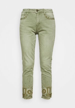PANT ANKLE PAISLE - Jeans Skinny - green