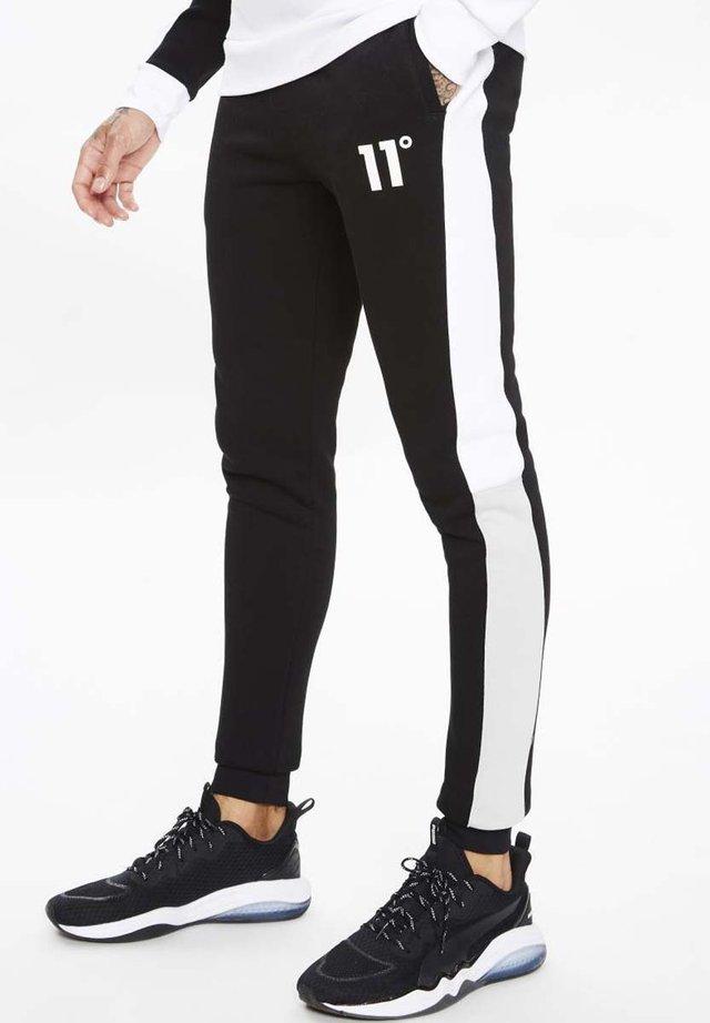 BOXY BLOCK - Pantalones deportivos - black/light grey/white