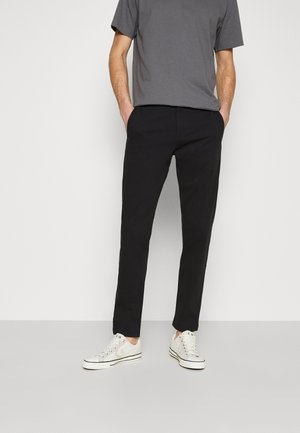 SMART FLEX TAPERED - Pantalones chinos - black