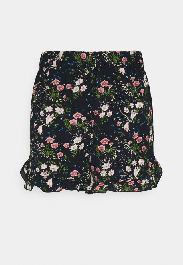 ONLNOVA LUX FRILL  - Shorts - black/venus