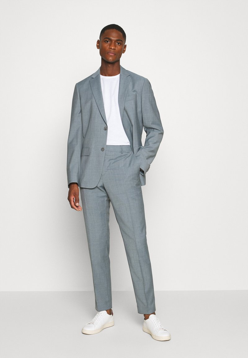 Calvin Klein Tailored - TROPICAL STRETCH SUIT - Traje - blue heather