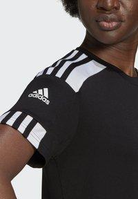 adidas Performance - SQUADRA 21 - Camiseta estampada - black/white - 4