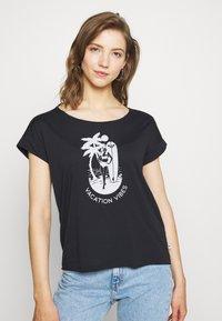 Roxy - SWEET SUMMER TEE - Print T-shirt - anthracite - 0
