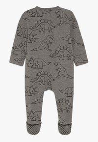 Cotton On - MINI ZIP THROUGH ROMPER BABY - Pyjamas - charcoal marle - 1