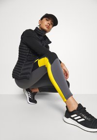 The North Face - STEEP TECH - Leggings - Trousers - vanadis grey/black/lightning yellow - 3
