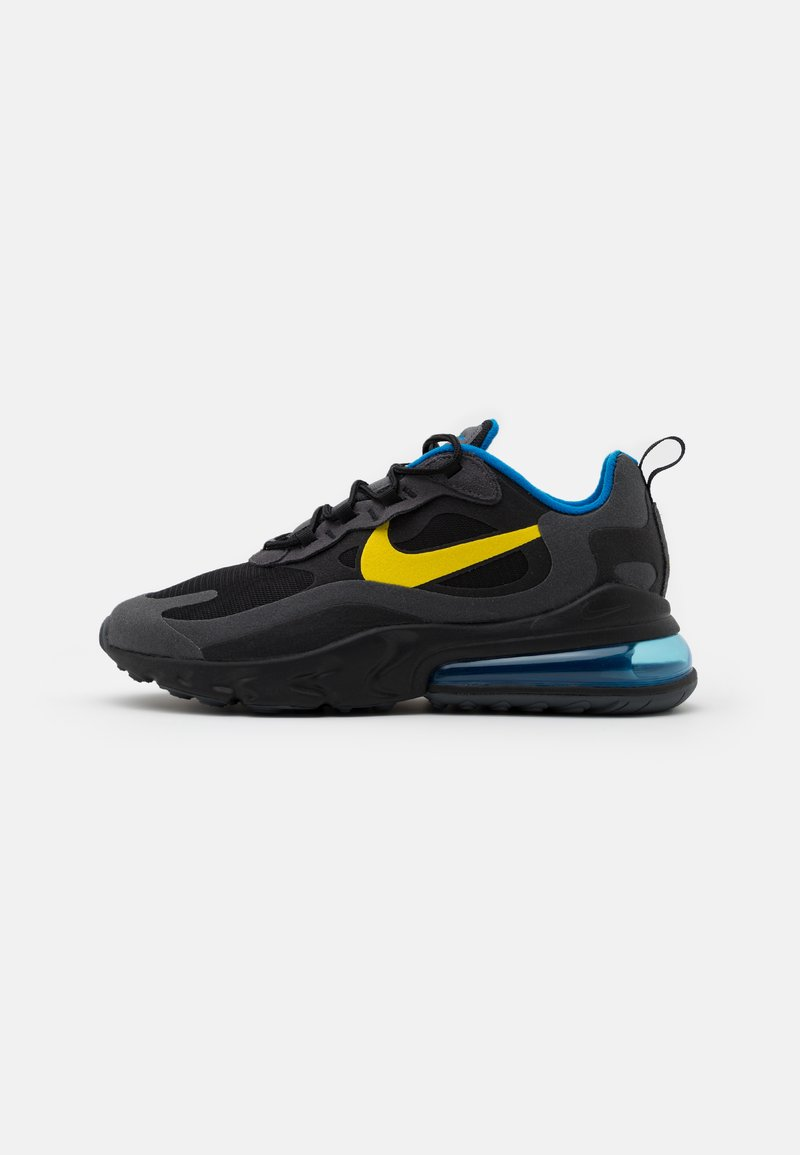 Nike Sportswear - AIR MAX 270 REACT UNISEX - Trainers - black/tour yellow/dark grey/blue spark