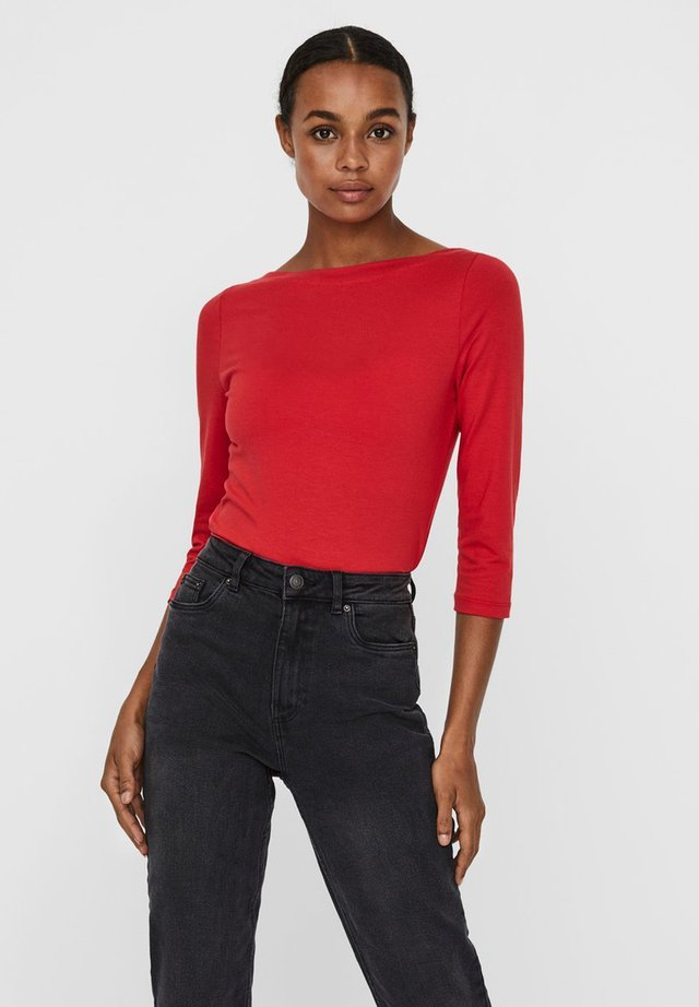 MIT 3/4-ÄRMELN BASIC - Long sleeved top - goji berry
