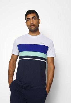 TENNIS - Print T-shirt - blanc/bleu marine/bleu/vert/blanc