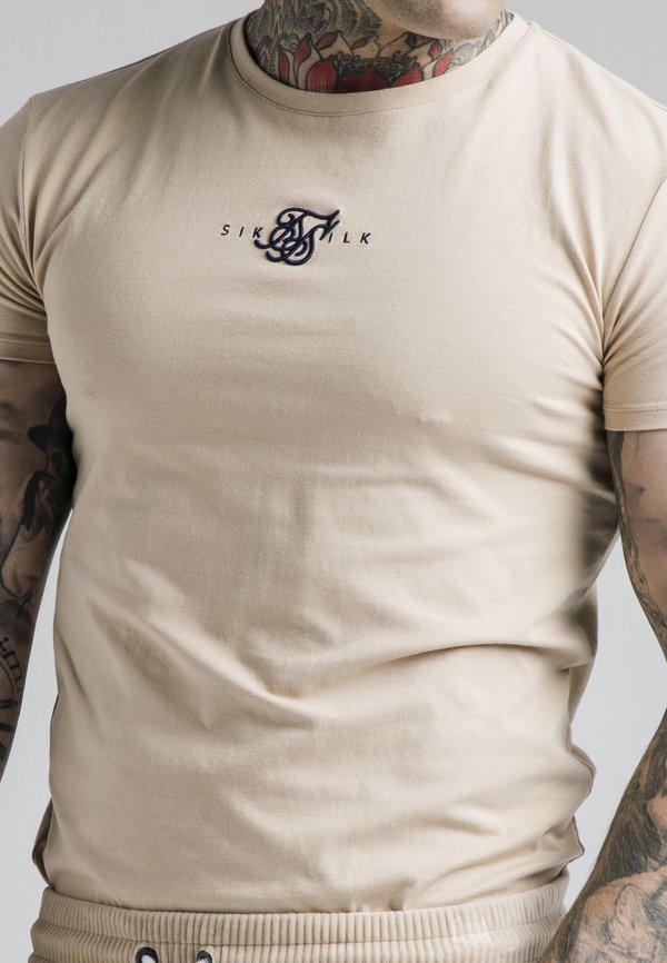 SIKSILK ALLURE STRAIGHT HEM GYM TEE - T-shirt basic - beige/beżowy Odzież Męska GEWF
