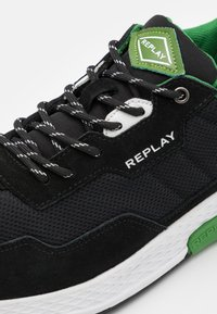 Replay - CLASSIC CHECK - Trainers - black/white/green - 5