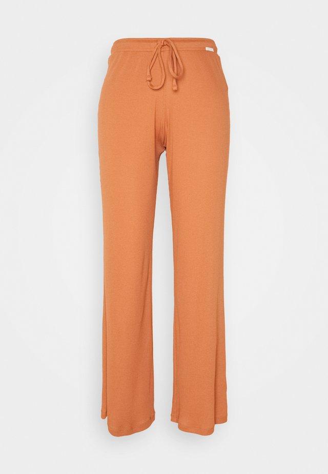 DAMEN LANG SUNDOWN DESERT SLEEP - Bas de pyjama - burnt orange