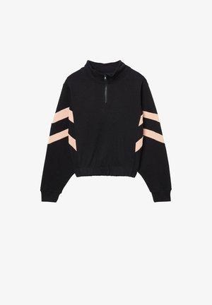 Sweatshirt - nero/rosa chic