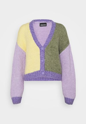 PCCARA CARDIGAN - Strickjacke - dahlia purple